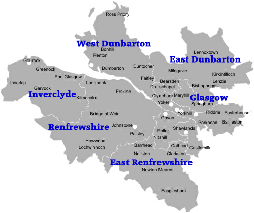 Areas We Cover Leaflet Distribution Glasgow
