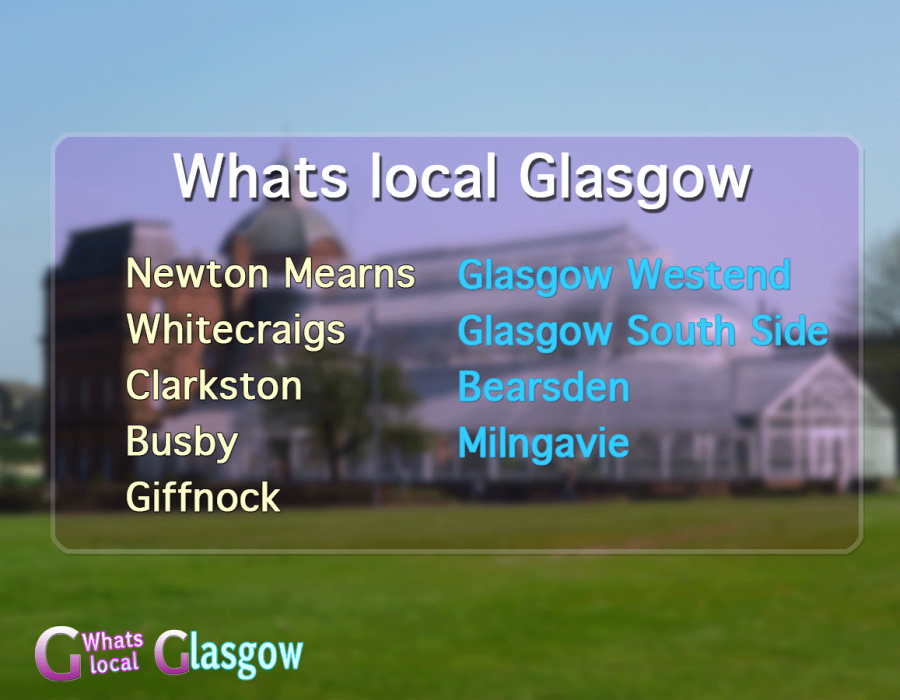 areas we cover in Glasgow with our whats on local magazine.