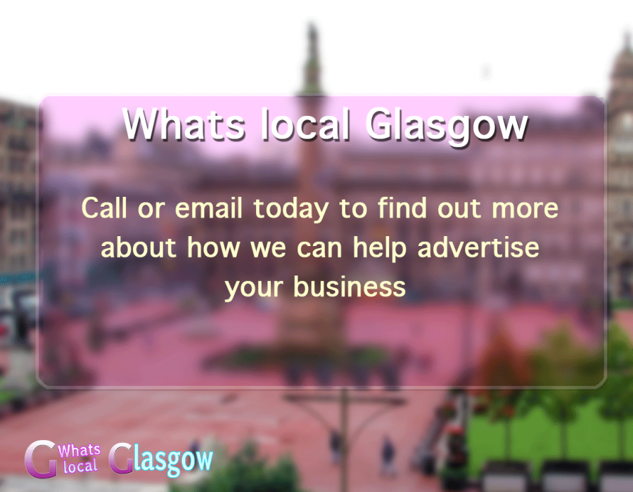 contact whats on delivery glasgow photo of George square in Glasgow