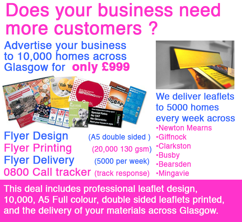 Leaflet -delivery-Glasgow special offers